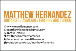 Guitarist Matt Hernandez Card B